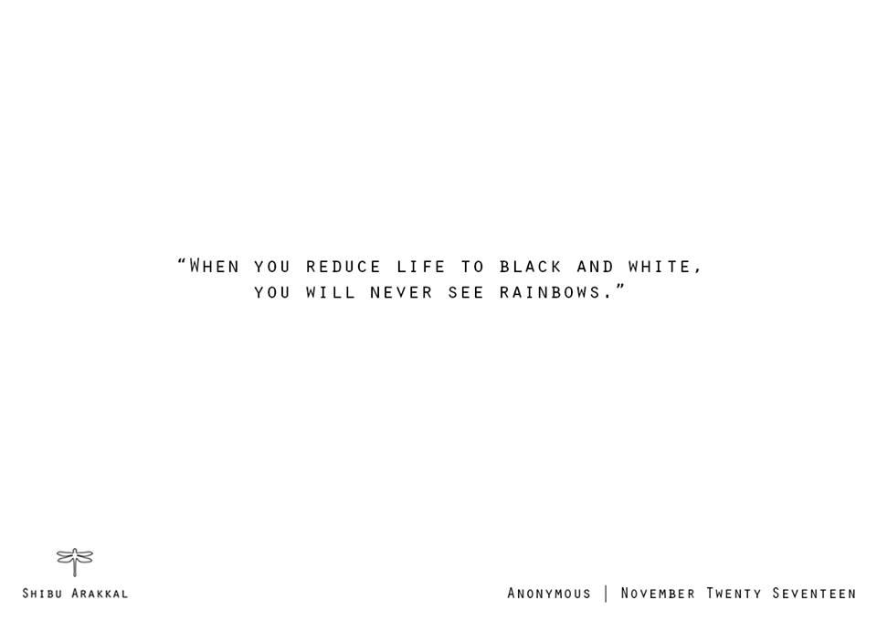 'Black & White Rainbows'